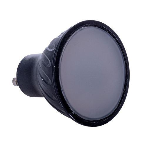 Bec LED negru 7W Gu10. Culoare: caldă