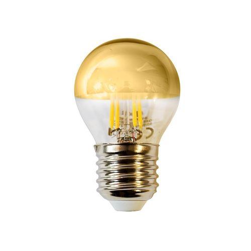 Bec cu filament LED de 4 W G45 E27 Auriu