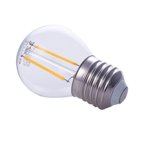Bec cu filament cu LED E27 G45 2700K de 2 W