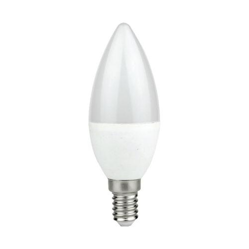 Bec cu led 7 W E14 C37 lumânare. Culoare: caldă