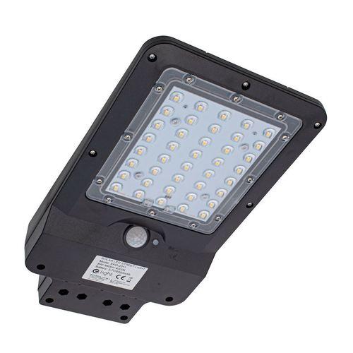 Lampă stradală solară neagră 8W 4000K IP65