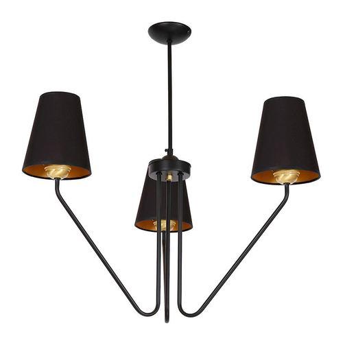 Candelabru Victoria negru negru 3x E27
