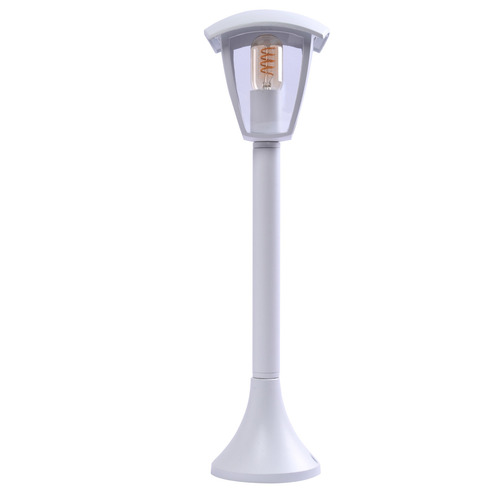 Lampă de grădină albă Fox 1x E27 mare IP44