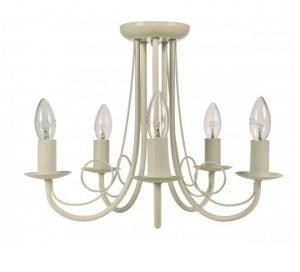 Lampă clasică de sufragerie Perła 5, suspendată, albă small 0