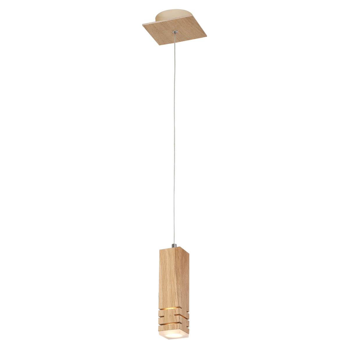 Lampa suspendată Milagro BERGEN 574 Lemn natural 5W