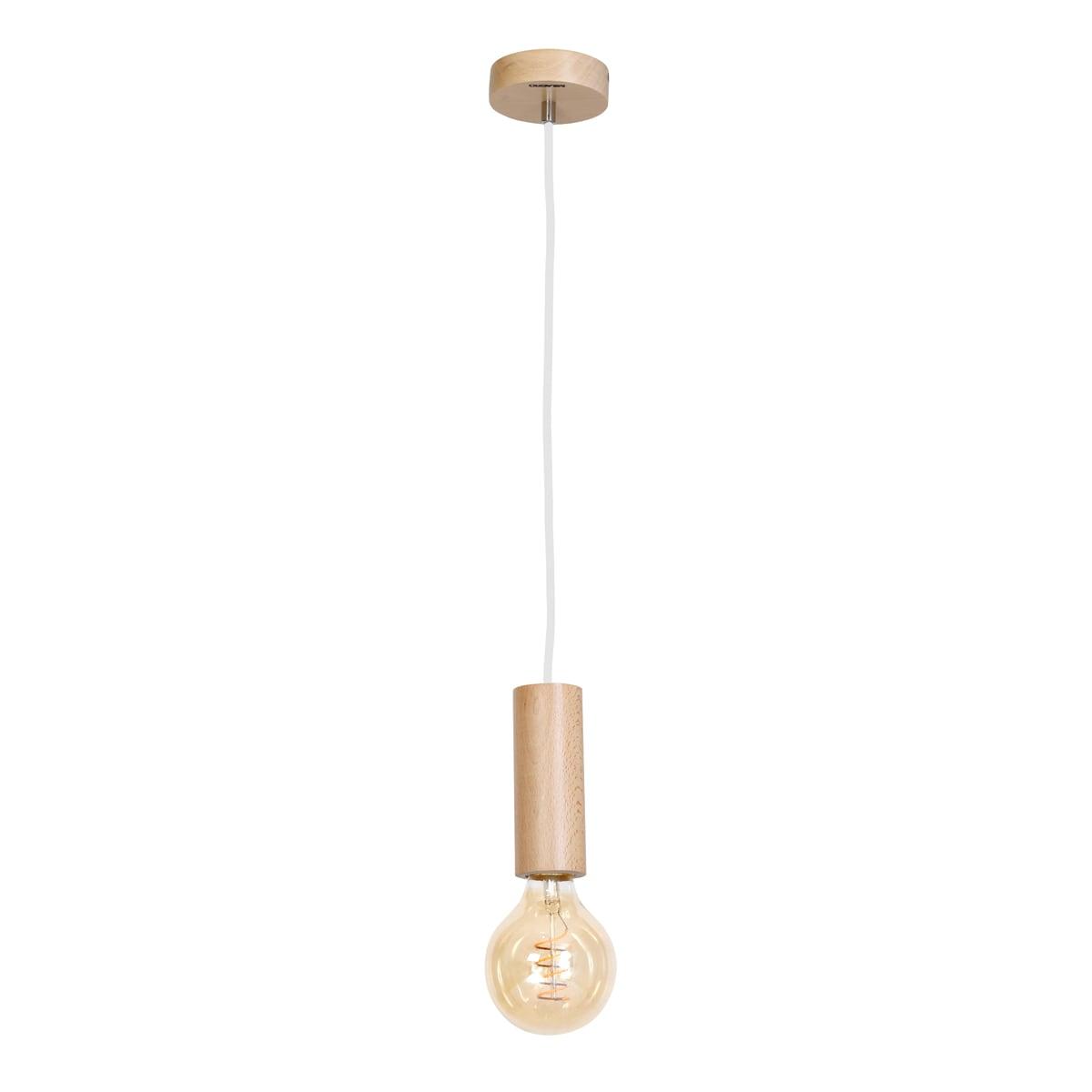 Lampa suspendată Milagro BOSCO 611 Lemn natural 1xE27 40W