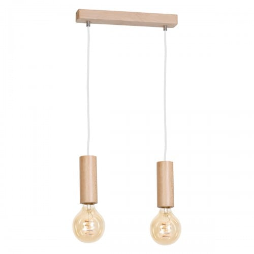 Lampa suspendată Milagro BOSCO 612 Lemn natural 2xE27 40W
