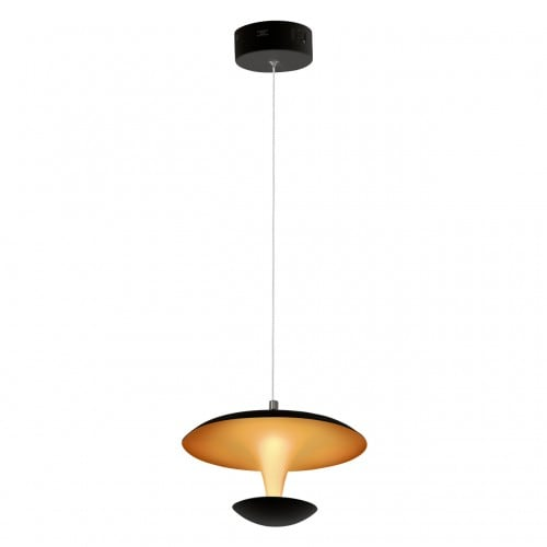 Lampă cu pandantiv Milagro COSTA 359 Negru mat / auriu 12W