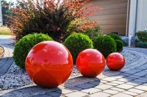 Culoare decorativă cu bilă de grădină Alegere 38 cm small 2