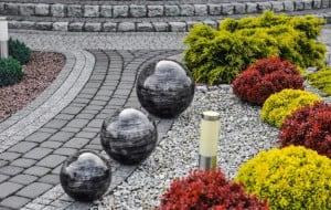 Culoare decorativă cu bilă de grădină Alegere 38 cm small 3