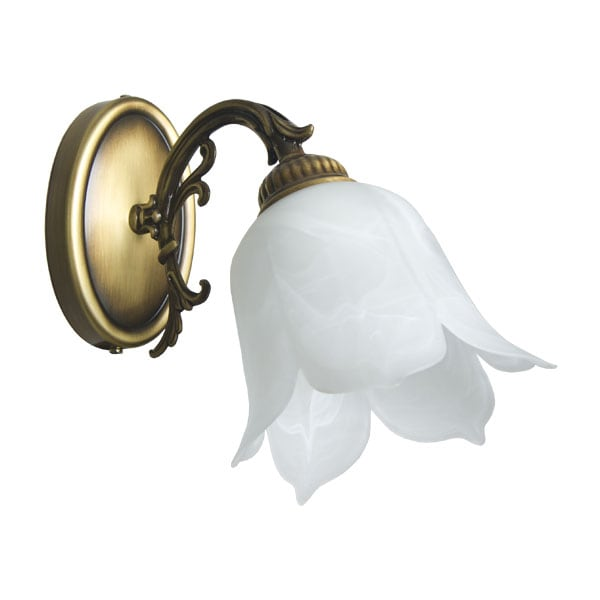 Lampa de perete 1-pł. FlowerPower Patina