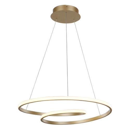 Lampă suspendată aurie Capita LED