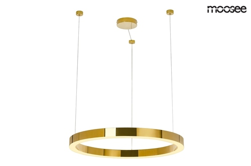 Lampă suspendată MOOSEE RING LUXURY 70 aur - LED, aur crom