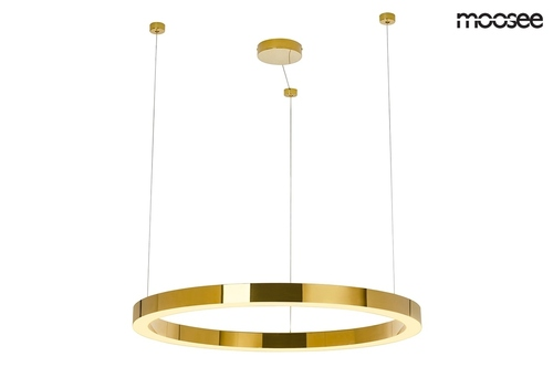 Lampă suspendată MOOSEE RING LUXURY 90 aur - LED, aur crom