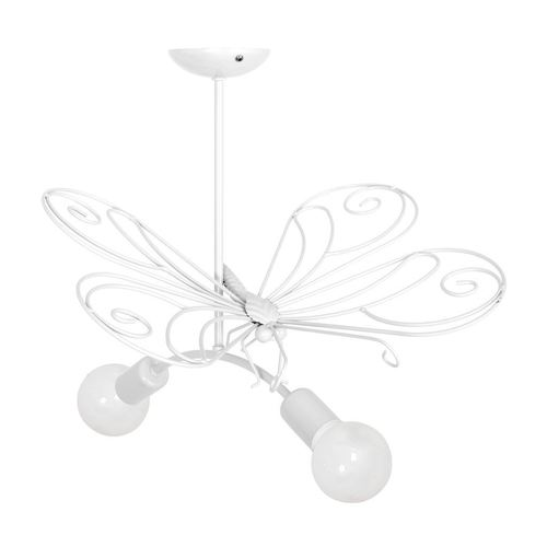 Candelabru Butterfly 2 White 2x E27