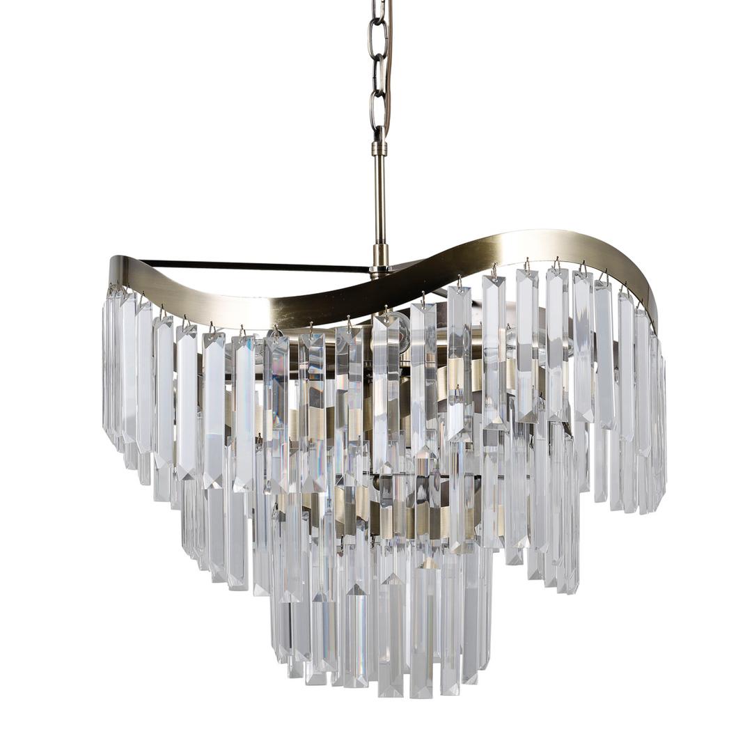 Lampă suspendată din bronz Sabriga E14, cu 8 becuri