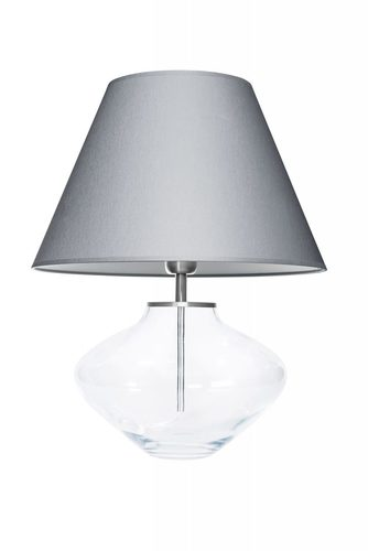 Lampă comode Bali Transparent Gri / Alb Famlight E27 60W realizat manual