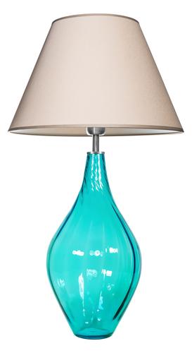 Lampă de masă din sticlă Borneo Baltic Green Famlight bej / alb E27 60W