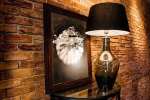 Ceylon S Grey Famlight E27 60W lampă de toaletă, realizată manual small 4