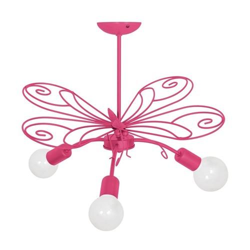 Candelabru Butterfly 2 Pink Dark 3x E27