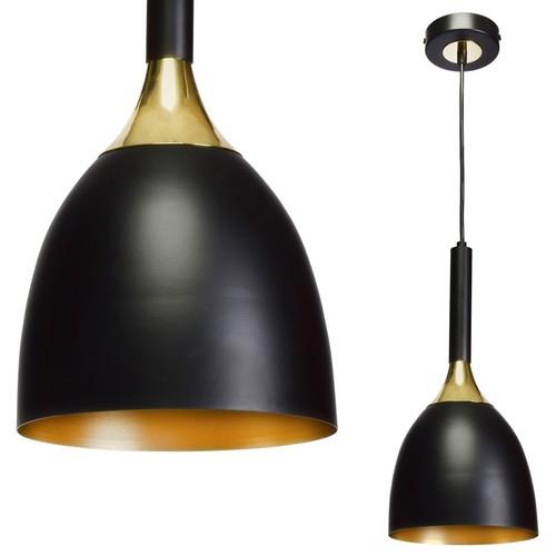 Lampă suspendată Clark White / Gold 1x E27