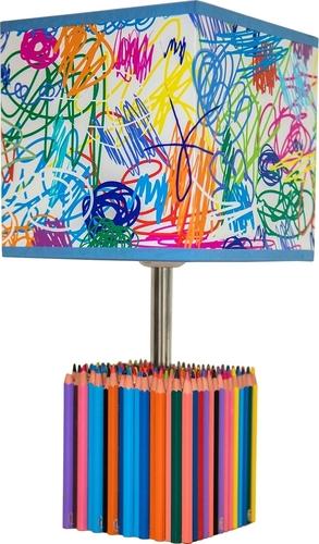 Lampă de masă pentru copii Colorat Crayons