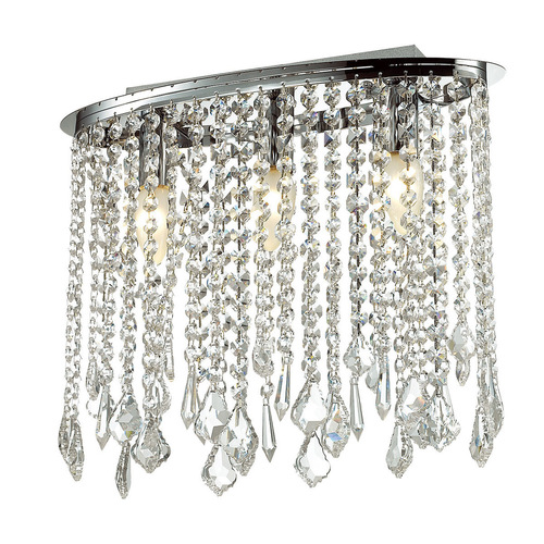Lampă de tavan clasică cu cristale în 3 puncte Kaas E14