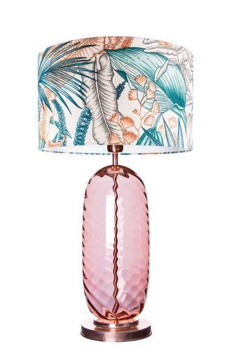 Lampă de masă elegantă Chloe Lister Brown MALEDIVE E27 60W lucrate manual