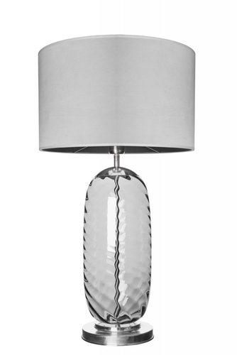 Lampă de masă elegantă Chloe Lister Grey Famlight gri / oțel inoxidabil E27 60W