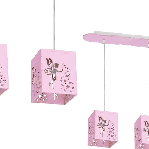 Lampă suspendată Fairy Pink 3x E27 60 W
