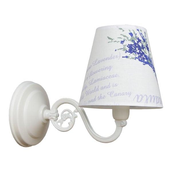 Lampa de perete 1-pł. LAVENDA Alb
