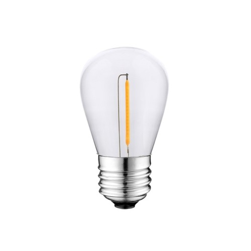 Bec cu filament LED 0,5W St45 E27 2700K