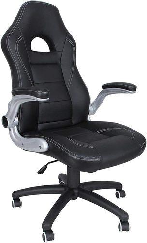 Scaun de birou cu tetieră OBG28B Songmics negru / gri