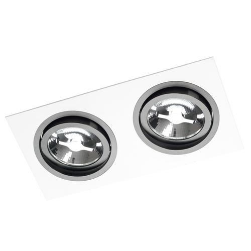 Pata albă dublă Alcazar cu inel negru 142.WB