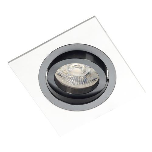 Alcazar pătrat alb cu inel negru 541.WB