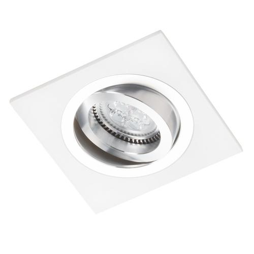 Alcazar pătrat alb cu Chrome 541.WC