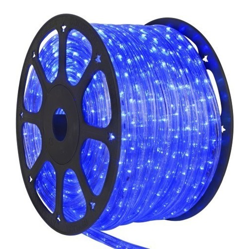 Furtun cu LED albastru 1M