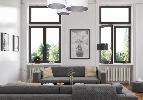 Tavan pentru sufragerie Elements 60W E27 alb / argint realizat manual
