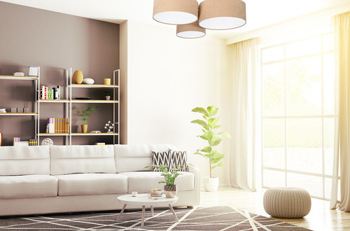 Lampă de plafon cu LED - Element de plafon 60W E27 bej / alb