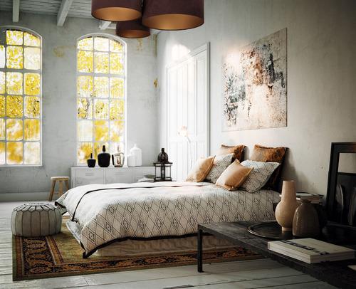 Iluminat pe hol, iluminat pe tavan, Elements 60W E27 tavan maro / auriu