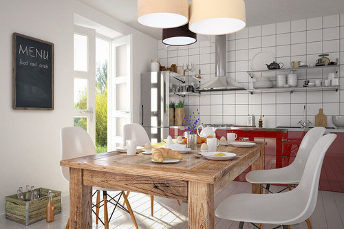 Lampă de tavan pentru bucătărie, Lampă de tavan Elements 60W E27 bej / crem / maro