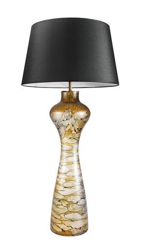Interesantă lampă de masă Havana L Sahara Famlight E27 60W grafit / alb