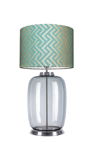 Lampă de masă Desinger Laut Table Famlight Stone Blue E27 60W realizată manual