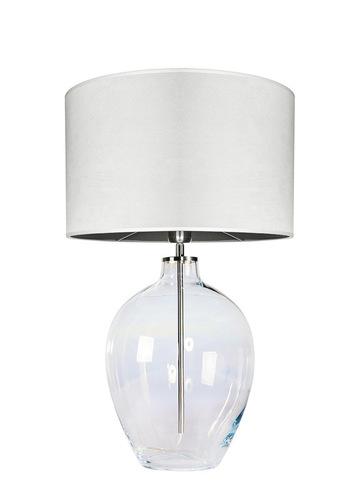 Lampă de masă din sticlă Luzon Pearl Famlight crem / alb E27 60W