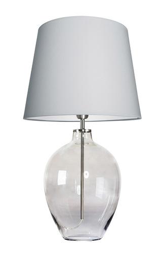 Lampă de masă elegantă Luzon Grey Famlight gri deschis / alb E27 60W oțel inoxidabil