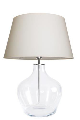 Lampă de masă modernă Famlight Madeira Cremă transparentă / albă E27 60W