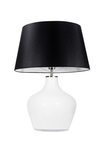 Lampă de sifonier mare Famlight Madeira Opal negru / alb E27 60W