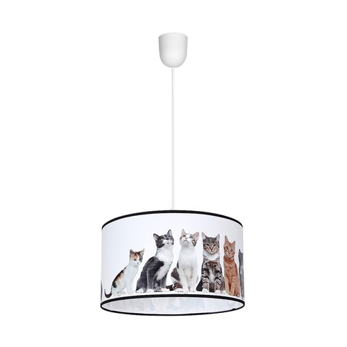 Lampă suspendată Pisici 1x E27