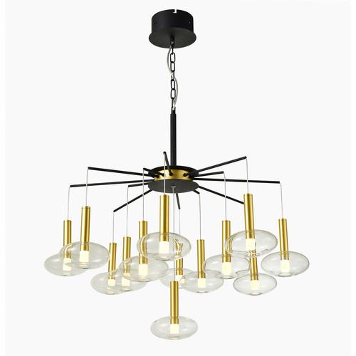 Lampă suspendată cu LED Hasselt negru