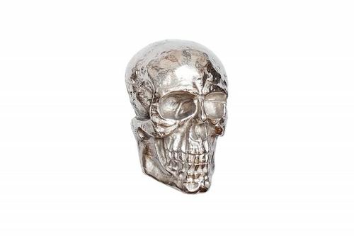 Decor de perete INVICTA craniu argintiu